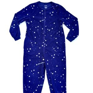 Nick & Nora Fleece One Piece Pajamas Star sky PJs